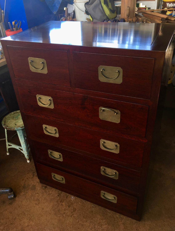 SOLD Solid Rosewood 6 Drawer Dresser
