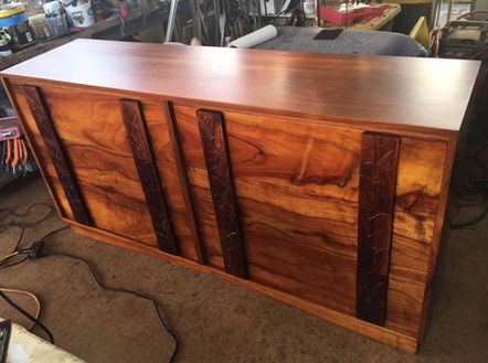 SOLD Restored 1940 Hawaiian Koa Dresser