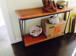 Reclaimed Mahogany & Iron Shelf