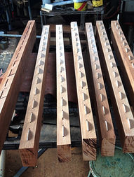 """2"""" AFRICAN MAHOGANY TABLE TOP BEFORE BEING GLUED"""