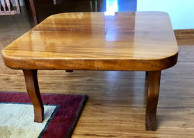 "Solid 2"" Hawaiian Monkey Pod coffee table."