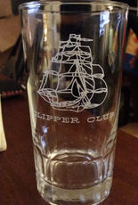 Pan Am Clipper Club Glass Tumbler