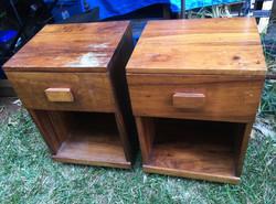 SOLD 1950 Hawaiian Koa Bedside table