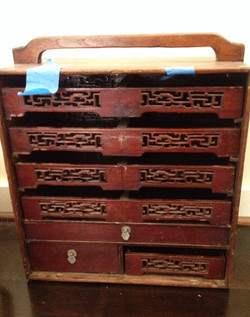 Antique Rosewood Chinese Jewelry Box