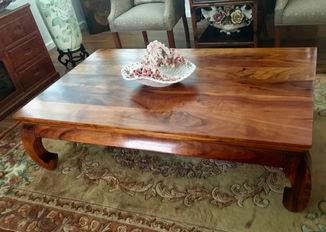 SOLD 1950's Hawaiian Koa Chow Table
