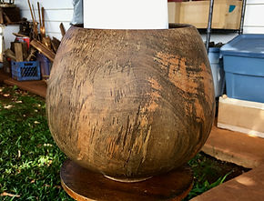 Avocado wood bowl