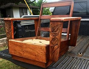 1940u0027s Hawaiian Koa Chair