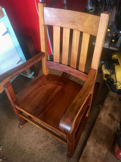 """1890's"" Hawaiian Koa Queen Rocker"