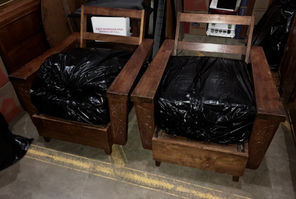 "1940/50s Hawaiian Koa 6"" chairs"