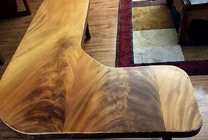 """Solid 3"""" Hawaiian Monkey Pod coffee table."""