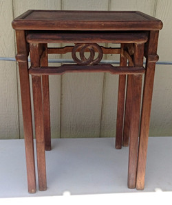 Rose wood Stacking Tables