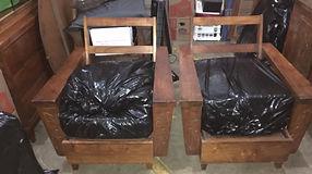 "1940s/50s 6"" arm Hawaiian Koa chair"