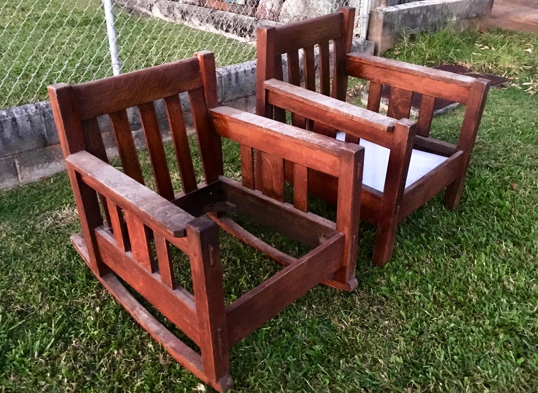 SOLD  Stickley Rocker & Chair