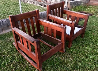 1902 Stickley Brothers Furniture Company Rocker and Chair