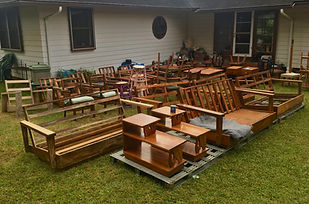 We carry a variety of Hawaiian Furniture and Collectibles