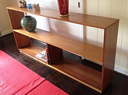 1950's Solid Mahogany Book Shelf