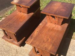1950's Hawaiian Koa End tables