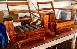"6"" Hawaiian Koa Princess chairs"