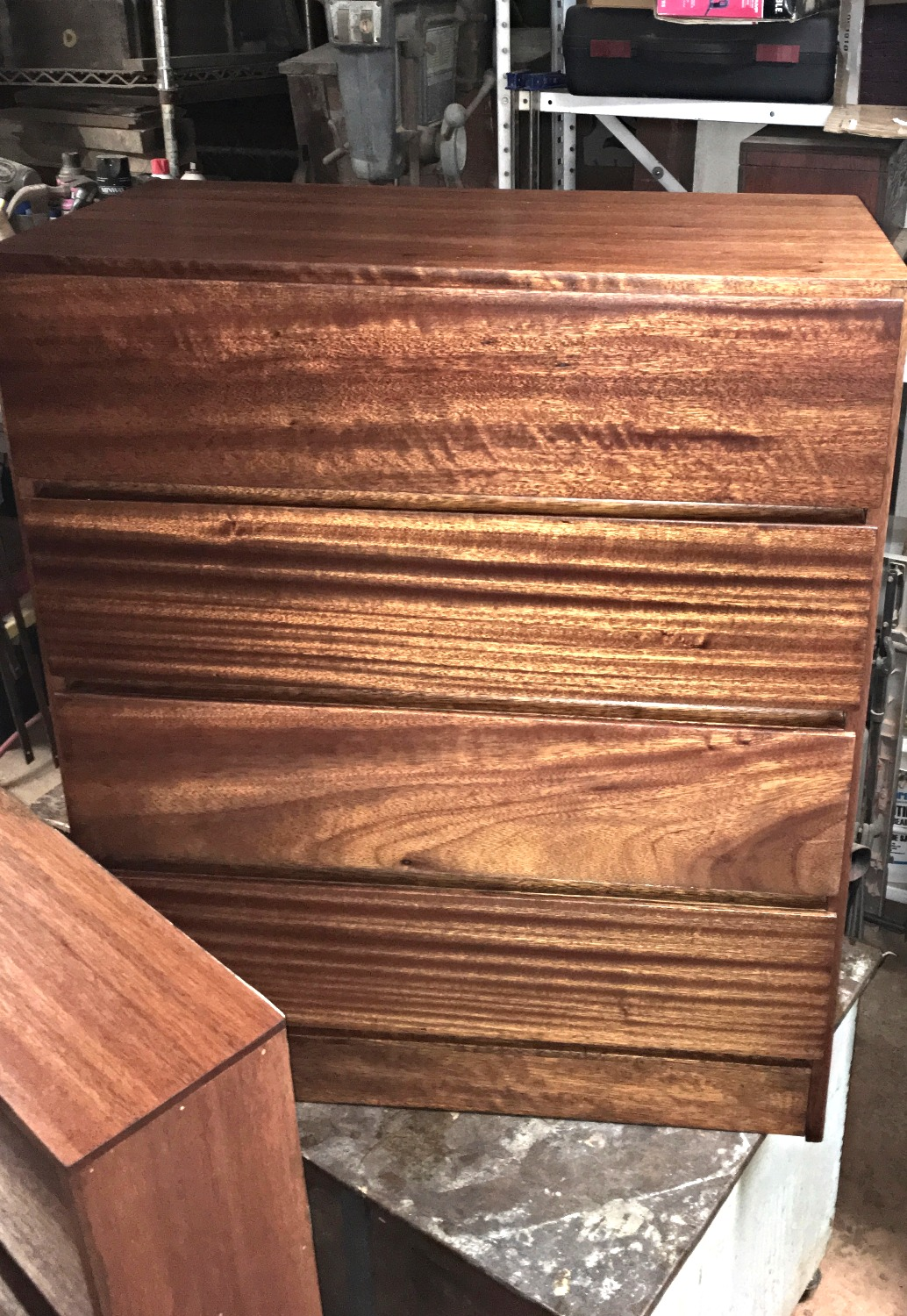 SOLD African Mahogany Chester Drawer