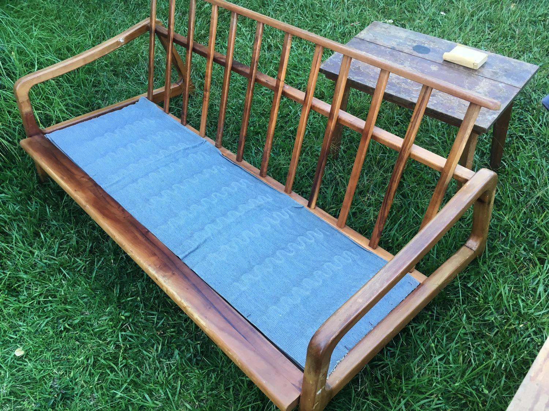 SOLD Koa Mid Century Mod Couch