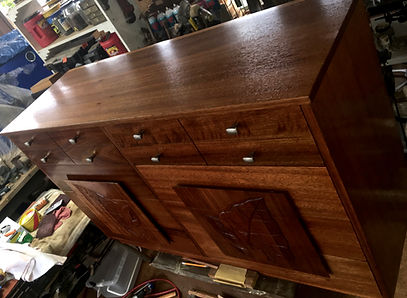 COMPLETED - 1950's African Mahogany Dresser
