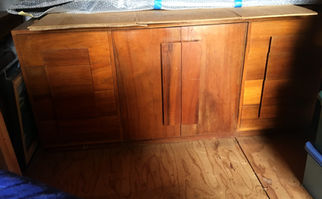 50's Hawaiian Koa Side Hutch