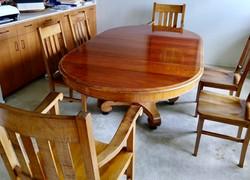 SOLD - 1880 Hawaiian Koa dining set