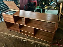 HOLD 1960's Mahogany Stereo shelf