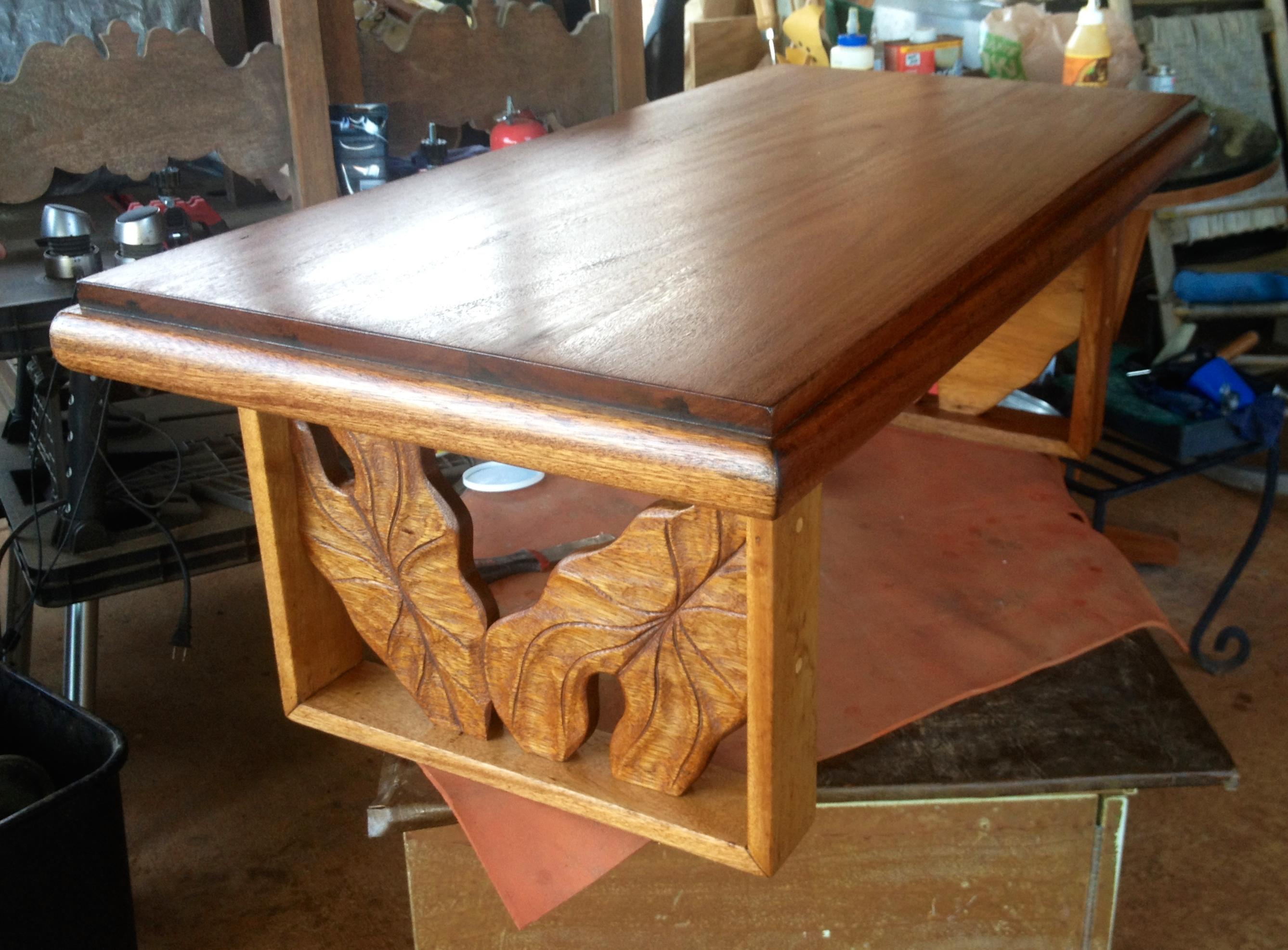 1950's Mahogany top/Koa Coffee Table