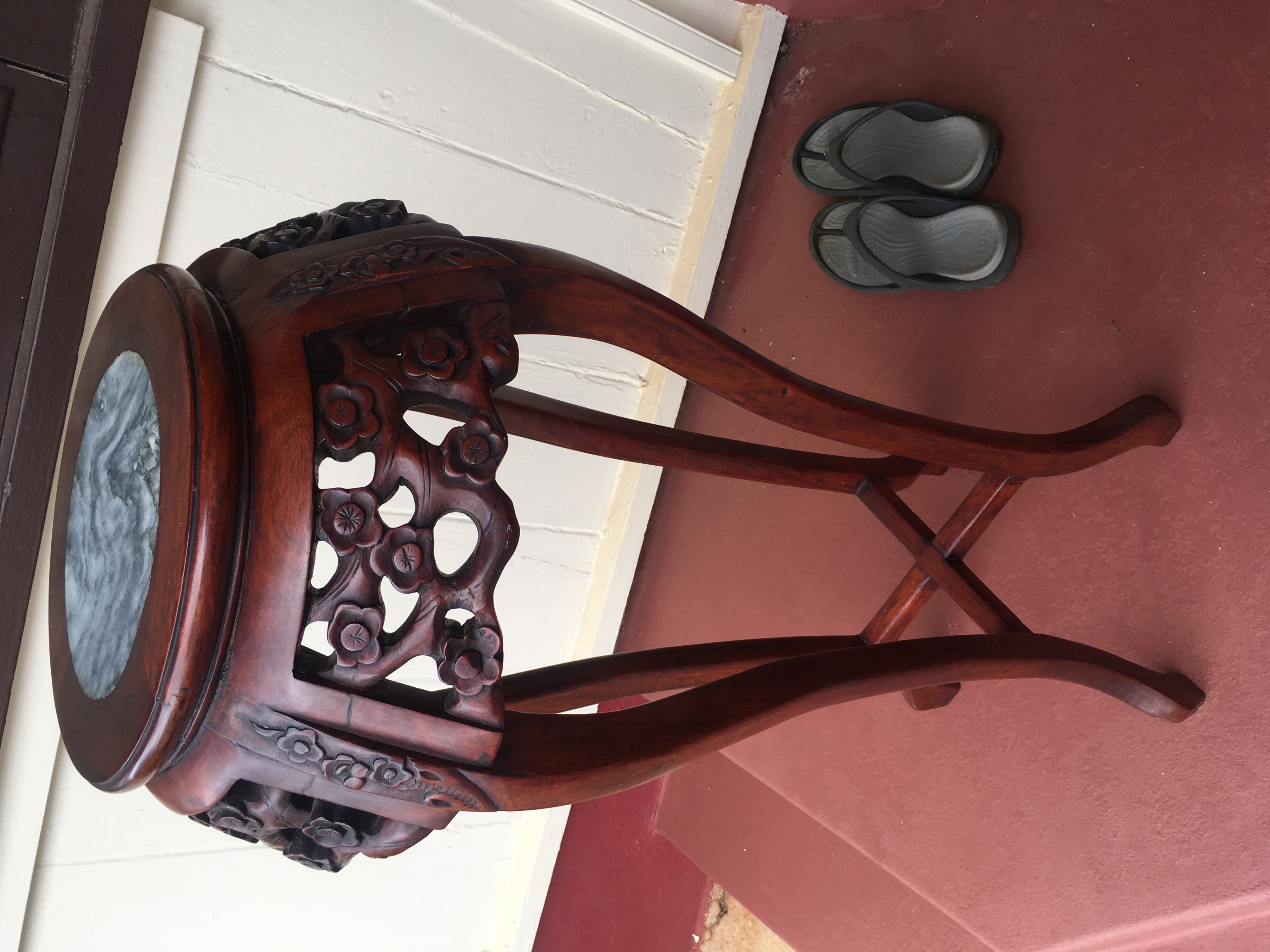 Rosewood with Marble top Plant stand