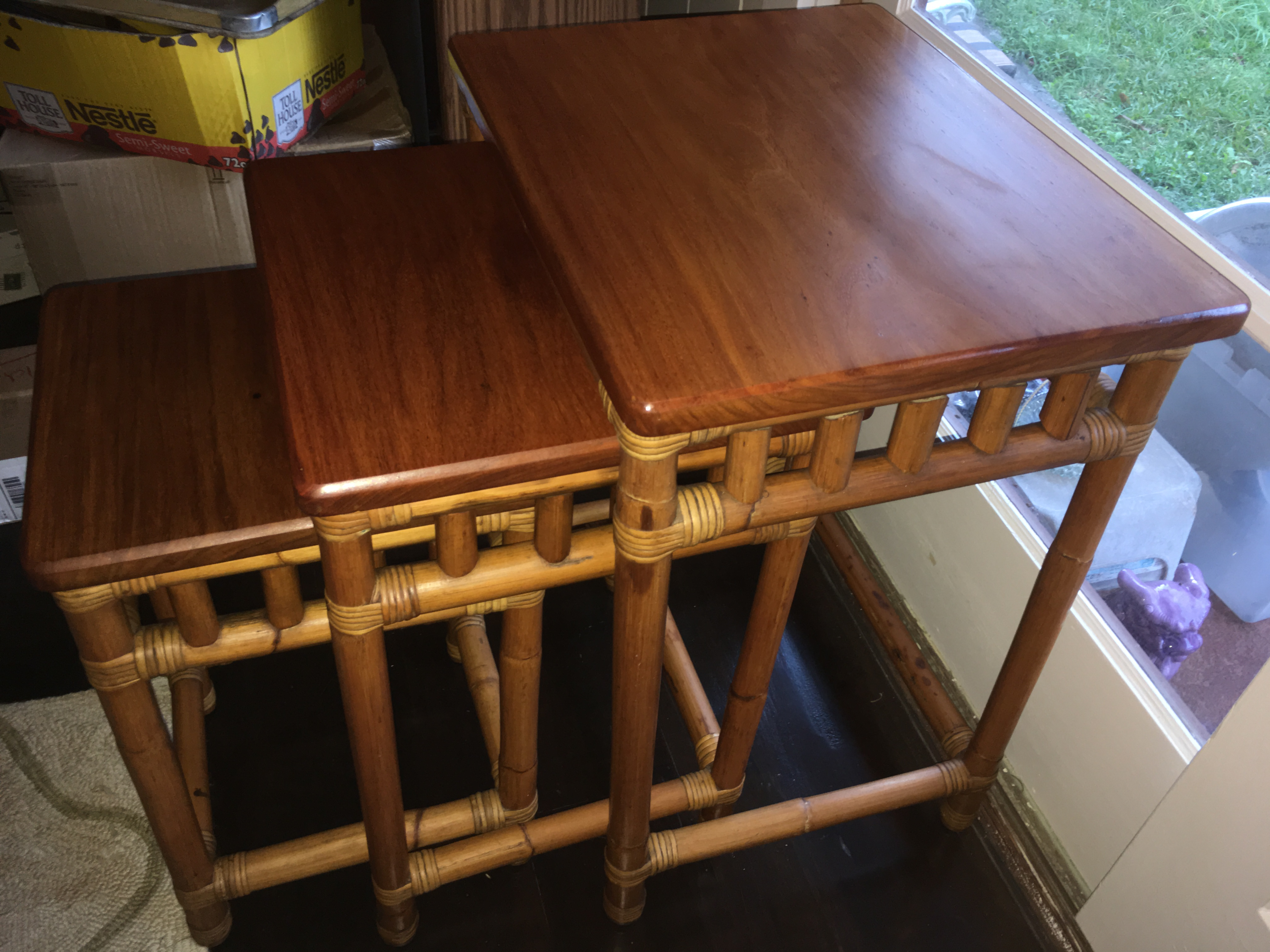 SOLD1930's Rattan with Narra wood