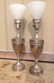 1930'S STRELING SILVER LAMPS