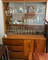 70s Hawaiian Koa China Hutch