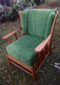 Restored TUTU's 1932 Tiger Maple Wing Back Chair