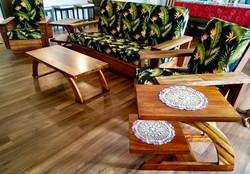 Restored 1940's Hawaiian Koa chairs