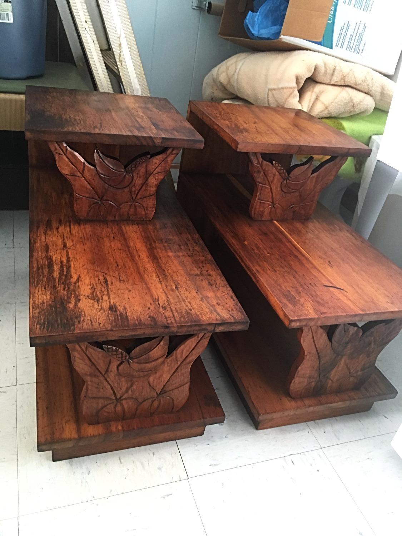 SOLD 50's Hawaiian Koa End Tables