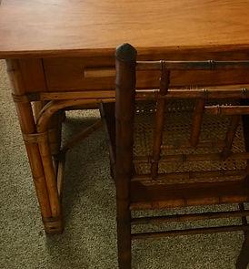 Narra Wood and Rattan Desk..jpeg