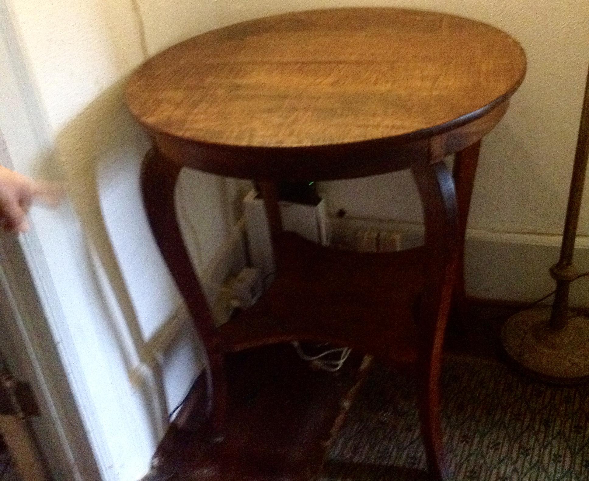 """1890 Koa 24"""" Round Entry table"""