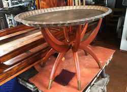 Walnut with Pewter top Table