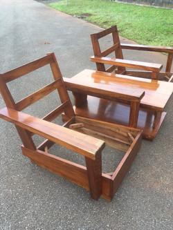 Just Sold - 50's Koa Platform Chairs