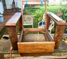 1930's Hawaiian Koa Platform Chair