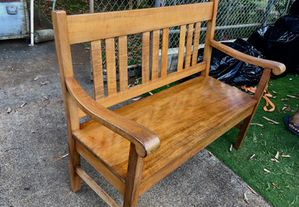 1900 Hawaiian Curly Koa Bench