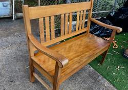SOLD 1900 Hawaiian Koa Bench