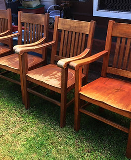 1900's Hawaiian Koa Captain chairs