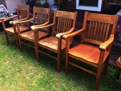 1900 Hawaiian Koa Captain chairs
