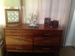 Koa Dresser with Lamp & Jewery Boxes