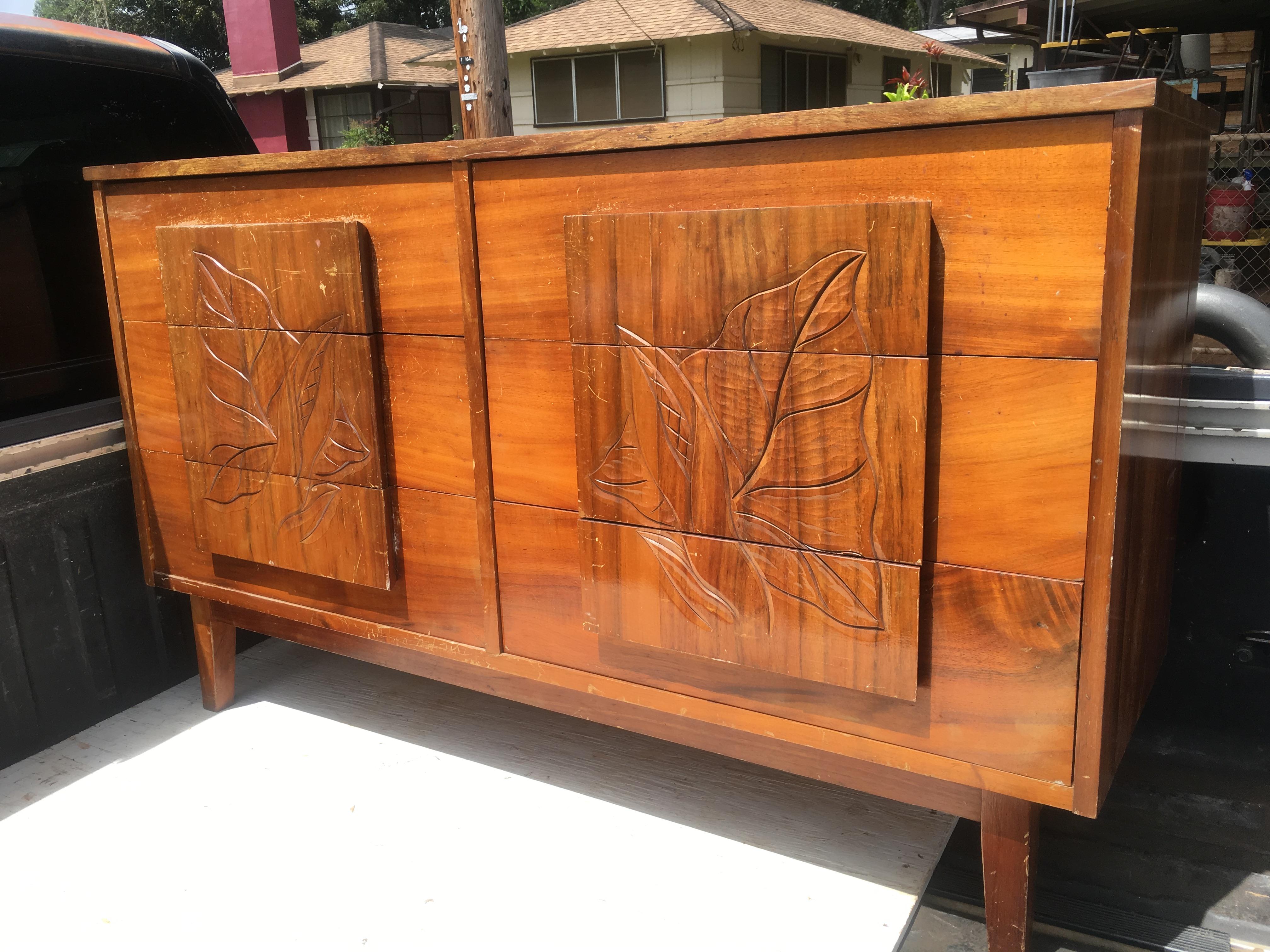 1950s Hawaiian Koa dresser