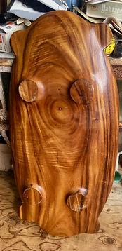 "Polynesian 41"" Monkey Pod Pig Platter"