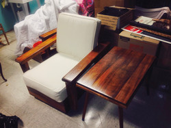 SOLD KOA Chair and Side Table
