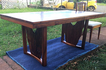 1954 Hawaiian Koa table with 1960's chair